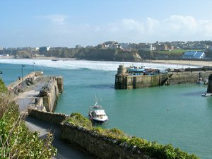 newquay harbour walking the Cornish Coastal Path hiking holidays in britain UK