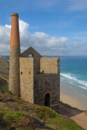 chapel porth Cornish Coast Path World Heritage Mining Site UK Walking holiday