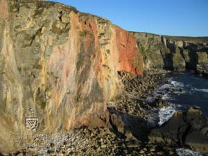 Cligga Head Cliffs World Heritage Mining Site Mid Cornwall Coast Path