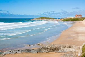 Fistral Beach West Newquay Cornwall South West Coast Path Walk