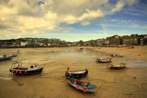 St Ives Harbour West Cornwall UK Hiking Route SW Coastal Path