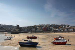 St Ives - town on the south west coast path
