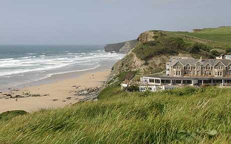 Watergate Bay Hotel near Newquay Cornish Coast Path Walking Holiday