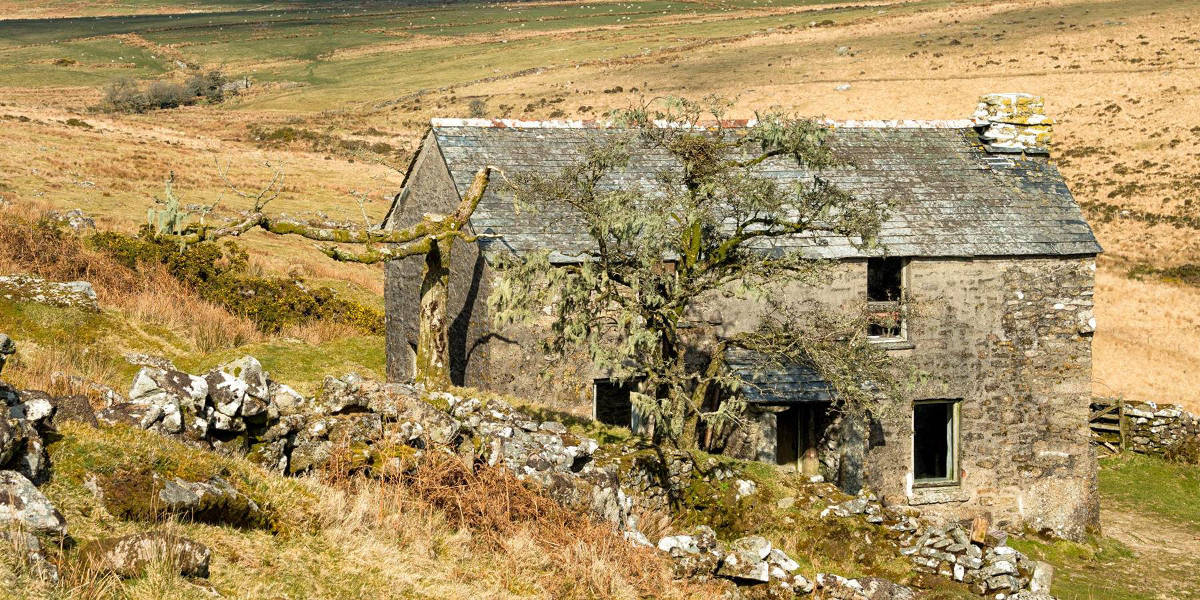 Abandoned farmhouse Bodmin Moor