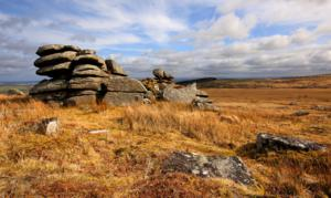 Kilmar Tor on the Ten Tors Cornwall Walk South West England Bodmin Moor