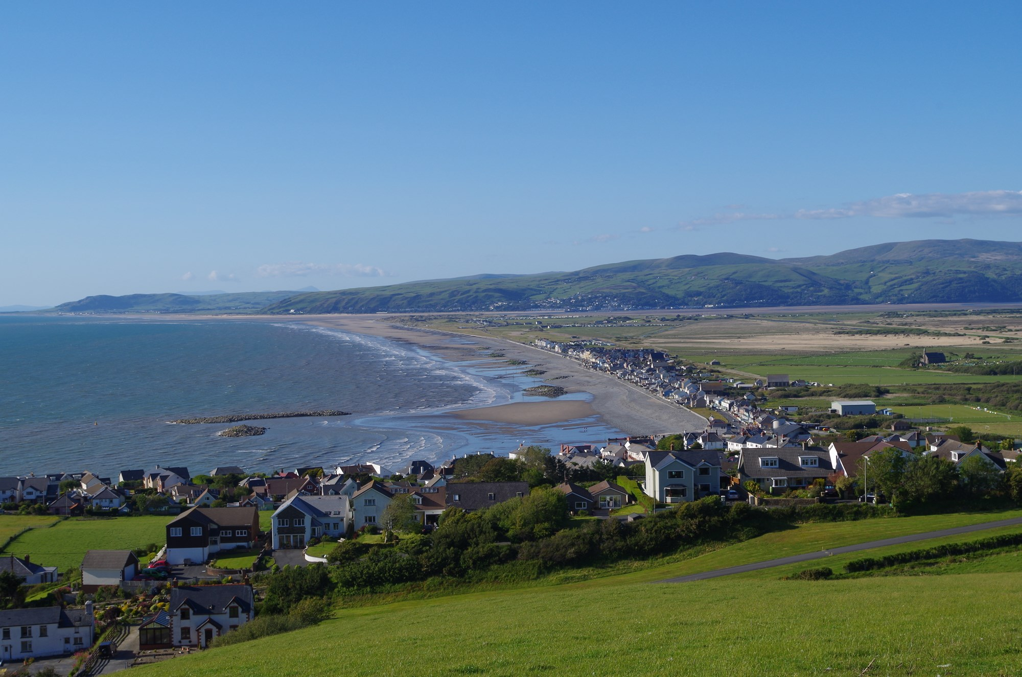 View over Borth on the Ceredigion Coast Path