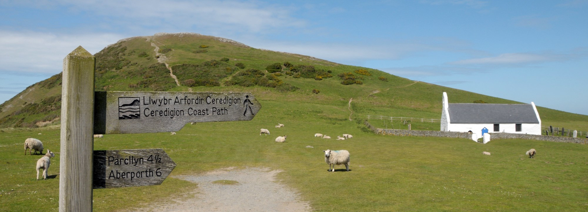 Signpost on the Ceredigion Way
