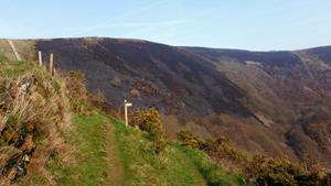 The steep climb up Ashton Cleeve on The Coleridge Way