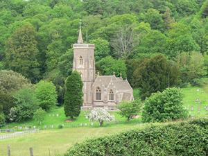 Church on the edge of the Quantock Hills