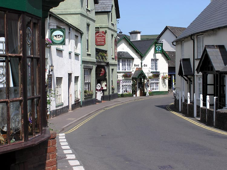 Exmoor National Park Porlock Village on the South West Coast Path