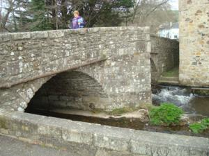 Bridge over the river Bovey at Bovey Tracey Devon
