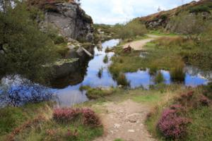 Quarries at Haytor Rocks on Dartmoor Devon UK