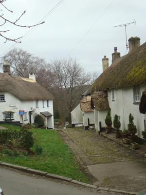 Thatched Houses at North Bovey on The Dartmoor Way Walking Holiday