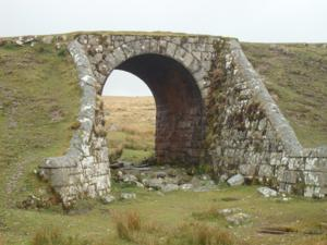 Moorland Railway near Princetown centre of Dartmoor National Park