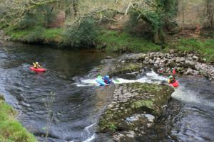 River Dart Kayakers spotted from The Dartmoor Way Walking and Hiking Trail