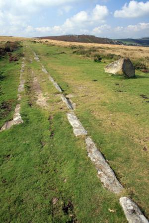 The Templer Way on Dartmoor Devon near Haytor Rocks South West England