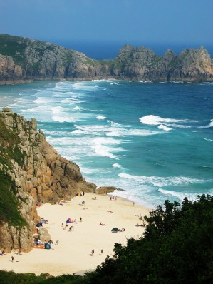 Porthcurno Walking -  Encounter Cornwall Walking Holidays in Cornwall & Walking Short Breaks in Cornwall Walking the Cornwall Coast Path, Walking the South West Coast Path, Walking the Saints Way and Walking the Smugglers Way