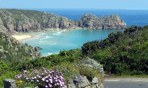 Porthcurno in Cornwall