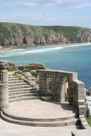 Minack Theatre Walk -  Encounter Cornwall Walking Holidays in Cornwall & Walking Short Breaks in Cornwall Walking the Cornwall Coast Path, Walking the South West Coast Path, Walking the Saints Way and Walking the Smugglers Way