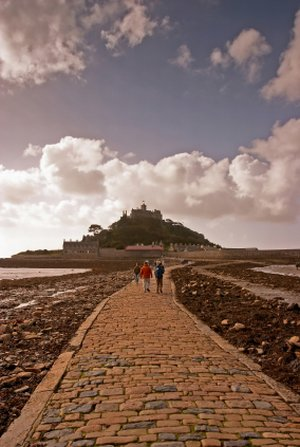St Michael's Mount on the Cornish Coast Path