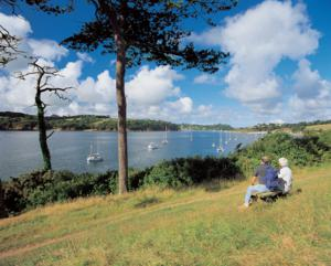 Helford River Near Falmouth Cornwall on the Lizard Walking Holiday UK