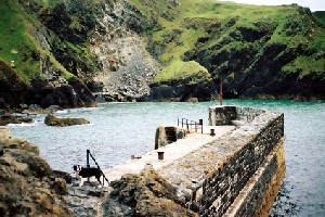 mullion cove Trekking Routes in England South West Coast Path National Trail Cornwall UK