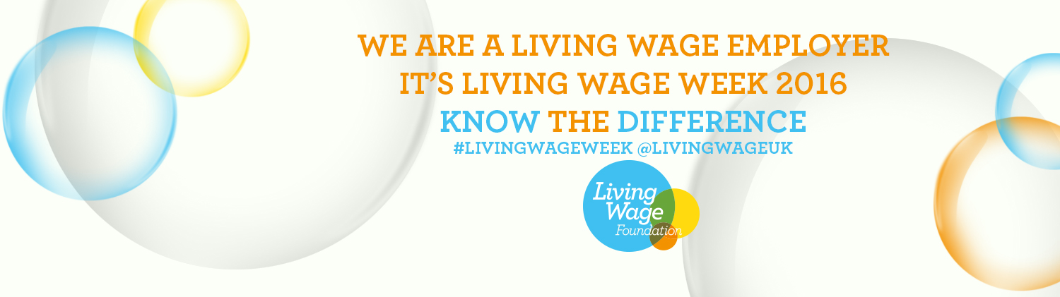 The Living Wage banner - know the difference