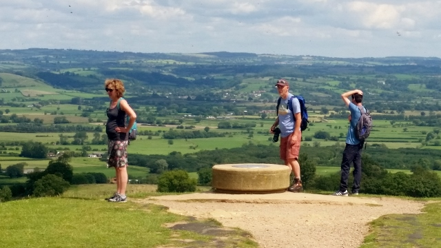 Looking out from The Tor at Glastonbury