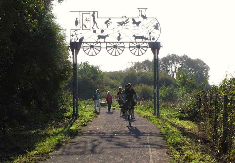 Cycling on The Strawberry Line