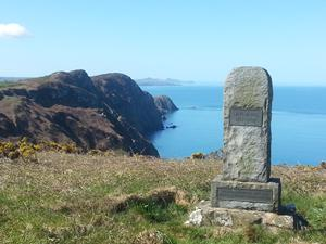 A memorial at Pwll Deri, Welsh Coastal Path, Pembrokeshire.