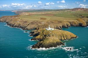 Strumble Head, Wales coast path, Pembrokeshire National Park.