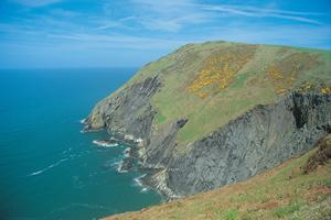 DInas Head on the Welsh Coast Path, walking in Wales.