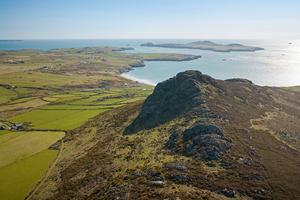 Carn Llidi landscape, the Pembrokeshire Coastal Path National Park.