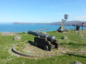 Cannon at Goodwick, Welsh Coastal Path, Pembrokeshire.