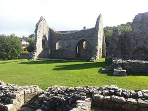 St Dogmeals Abbey, Wales coast path, walking in Wales.