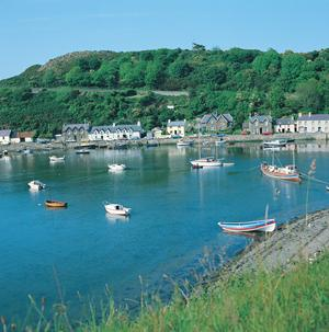 Fishguard Harbour, Wales. Wales Coastal Path.