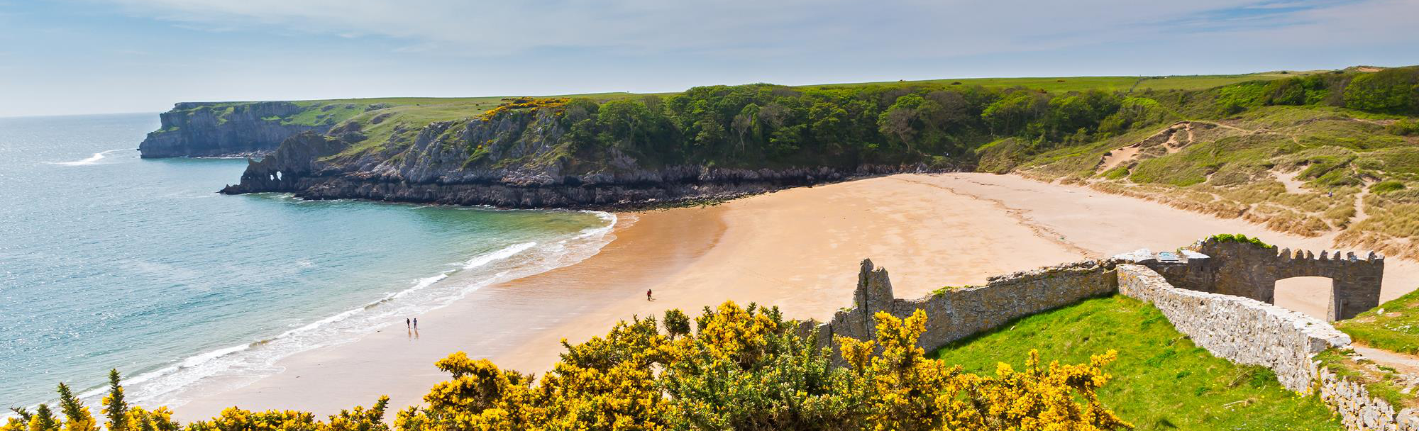 Barafundle Bay on the Pembrokeshire coast