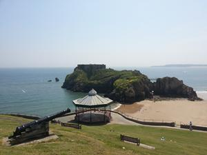 Tenby Island. Wales coastal path walking holidays.
