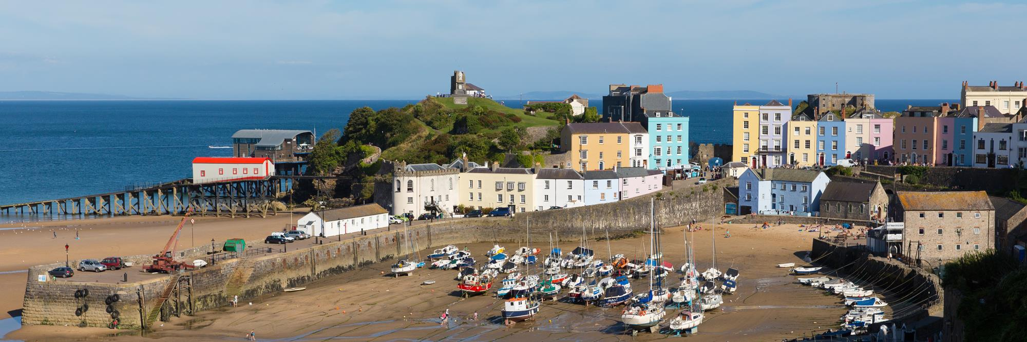 Tenby Harbour on the Pembrokeshire Coast Path