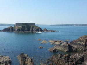 Thorne Island, Pembrokeshire coastal path, walking in Wales.