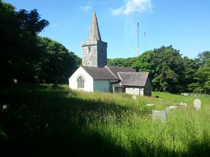 Pwllcrochan Church, Wales. Walking hoidays UK. The pembrokeshire coastal path.