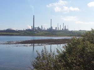 A refinary in Wales. Wales coast path.