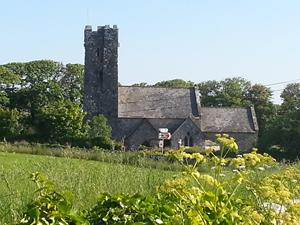 Bosherston Church, Pembrokeshire Coast. Wales coastal path.