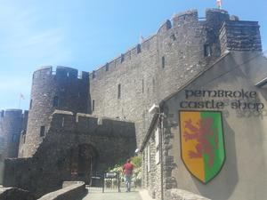 Pembroke Castle tourist attraction, Wales. Holidays in Wales.