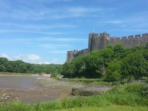 Pembroke Castle, Wales. The Pembrokeshire Coast Path.