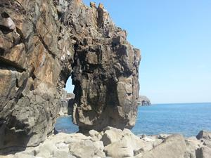 St Govan's Arch, Pembrokeshire holidays. Walks in Wales.