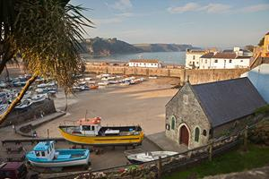 Tenby Harbour, Pembrokeshire. Walking holidays UK, the Pembrokeshire Coastal Path.