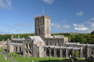 St Davids Cathederal, Pembrokeshire Coast Path, Wales.