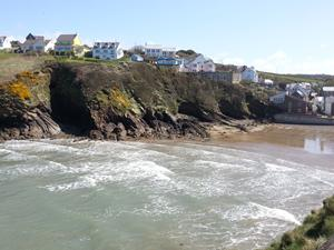 The beach at Little Haven, Pembrokeshire. Walking holidays and breaks in Wales.