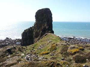 Ricketts Head Stack near Newgale, Pembrokeshire. View you see when walking in Wales.